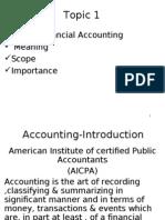 Accountancy Unit I