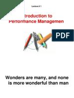 Lecture 1-Performance Management