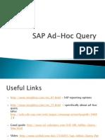 SAP Ad-Hoc Query