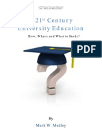 A 21st Century University Education--How, Where and What to Study eBook
