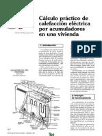 Cálculo Práctico de Calefacción Eléctrica Por Acumuladores E