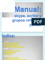 Manual Scrybd Skype Yahoo