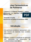 Aplicações Farmacêuticas de Polímeros - seminaio