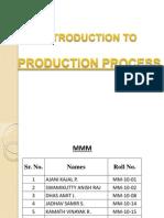Presentation - Production Management