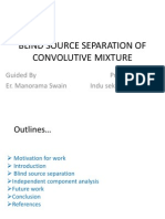 Blind Source Separation of Convolutive Mixture