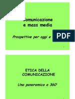 Corso di giornalismo - etica della comunicazione