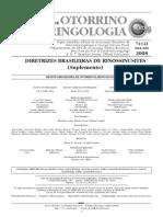 Diretrizes Brasileiras de Rinossinusites