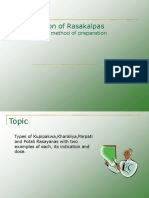 Types of Rasakalpas