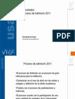 Resultados Proceso de Admisión 2011
