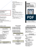 Church Bulletin -October 9th