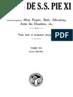 Actes de S.S. Pie XI - (Tome 12)