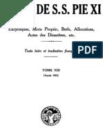Actes de S.S. Pie XI - (Tome 13)