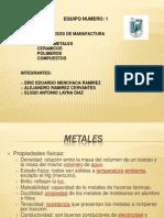 Metales_presentacion_w03 Equipo 1 Examen