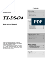 Manual TX-DS494 English