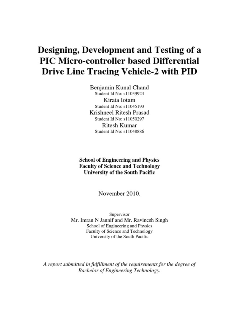 Designing Development And Testing Of A Pic Micro Controller Based Two Phase Motor Driver Circuit Using Sn754410 Differential Drive Line Tracing Vehicle 2 With Pid Microcontroller
