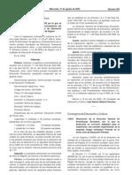 2005 Agosto Resolución Curriculo Frances