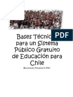Bases técnicas CONFECH para un sistema público gratuito en la ESUP