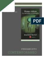 ENSAYO Homo Videns La Sociedad Teledirigida