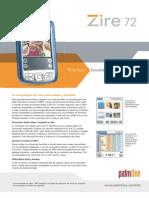 » palmOne Zire™ 72_Especificaciones_Español