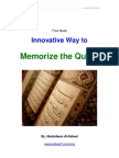 Innovative Way to Memorize the Quran