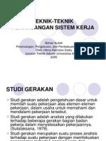 1.Teknik Perancangan Sistem Kerja