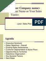 Sales Plan Presentation