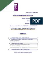 Naissance Du Juge Du Droit Administratif