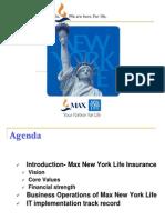 IT PPT-Max New York Life
