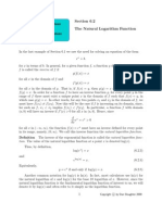 The Natural Logarithm Function