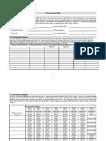 Procurement Plan Template 1.2
