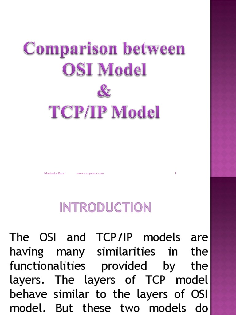 difference between osi and tcp ip This lesson explains four layers of tcp/ip network model, comparison and difference between osi and tcp/ip models.