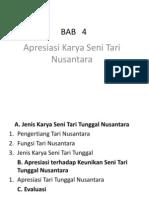BAB 4 Apresiasi Karya Seni Tari Nusantara