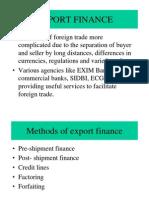 Export Fiance