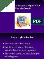 Tehnici de elaborare a algoritmilor – Metoda Greedy