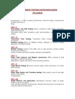 Software Testing Methodologies Syllabus