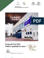 Politica Egalitatii de Sanse PACSPO