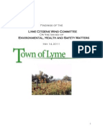 Town of Lyme Wind Committee Environmental May 2011 Revisions