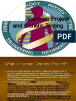 Human Genome Project and Genetic Testing