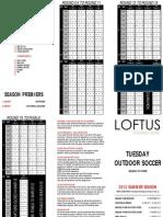 Outdoor Soccer Fixtures Summer 2011/2012