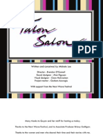 Talon Salon Showing Booklet