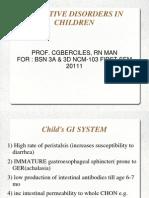 Git Disorders in Children