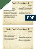 Mediageschiedenis - Overzicht HoorColleges - Blok 1