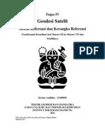 Tugas Geosat 4 Krisna Andhika 15109050- Sistem Referensi Dan Kerangka Referensi FIX!