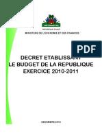 Haiti Budget 2010 - 2011