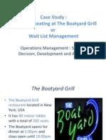 Call Ahead Seating at the Boatyard Grill