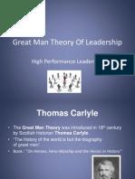 Great Man Theory of Leadership