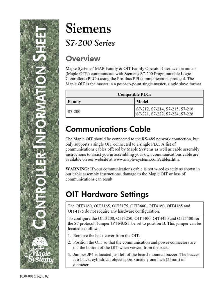 OIT-PLC Siemens Comunication 1 | Controlador lógico programable