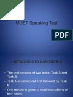 MUET Speaking Test Ppt