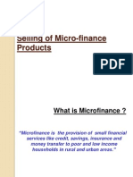 Selling Micro Finance