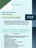 Diseño y materiales programa